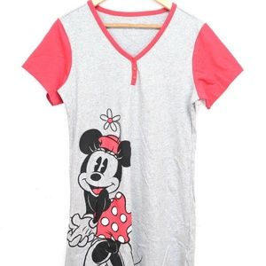 Disney Minnie mouse Sleepwear PJ Gown Sleep Shirt